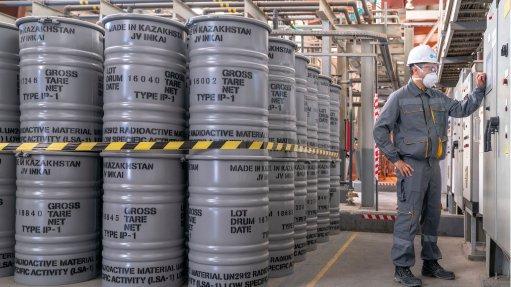 An image of drums of uranium.