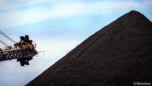 Image of a coal stockpile