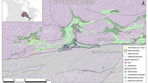 Image showing the location of the South Uchi project.