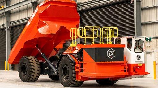 Image shows the Sandvik LH518B truck