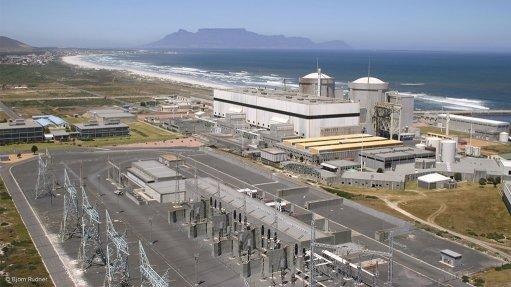 Photo of the Koeberg nuclear power station