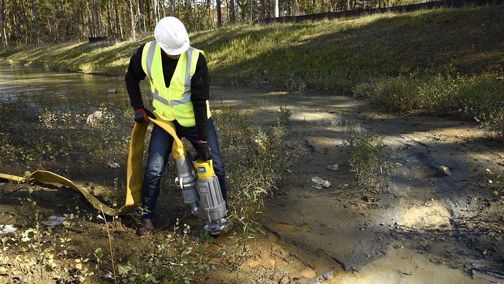 WEDA S pump being used outdoors