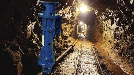 PVS pump range in an underground mine