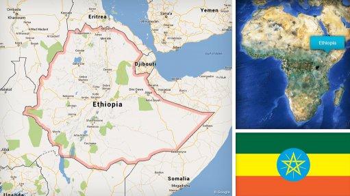 Image of Ethiopia map/flag