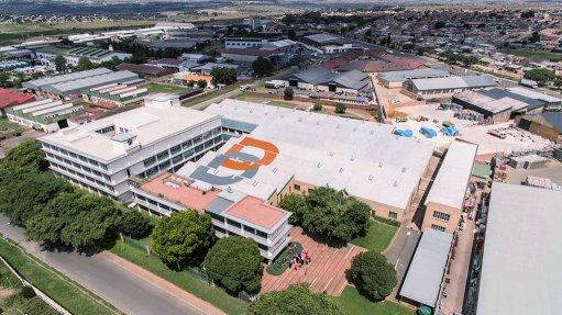 An aerial image of Bambisana Plastics factory