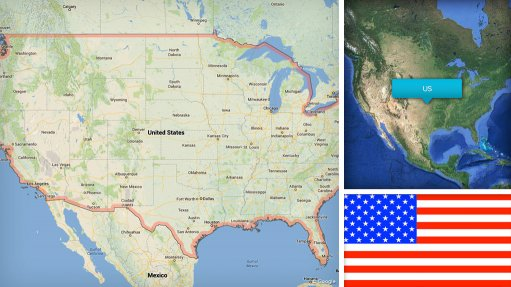 Image of US map/flag