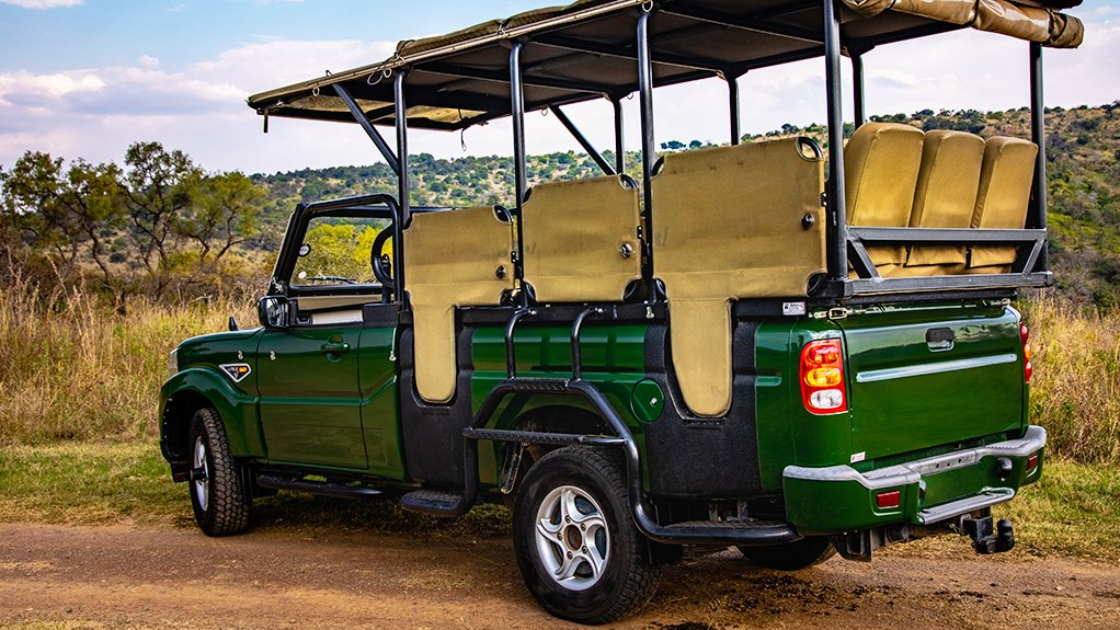 A bakkie for bush-escapes! The new Mahindra Pik Up Game Viewer