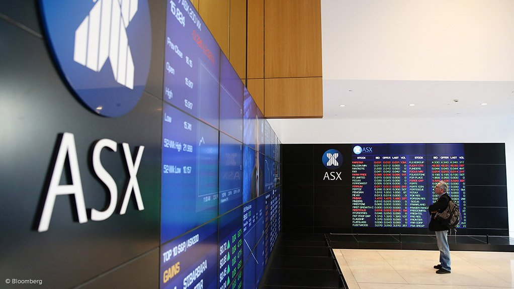 Image shows trading board of ASX