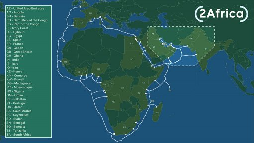 Image of 2Africa Pearl extension