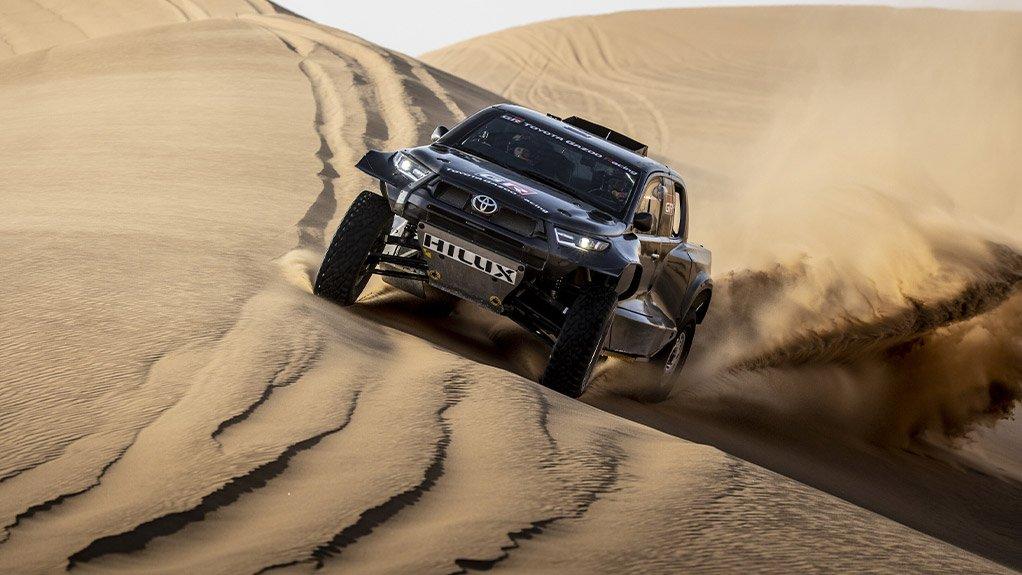 Image of the ToyotaGR DKR Hilux T1+