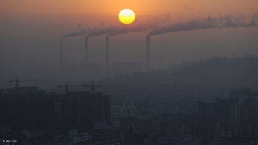 Image shows emissions from power stations