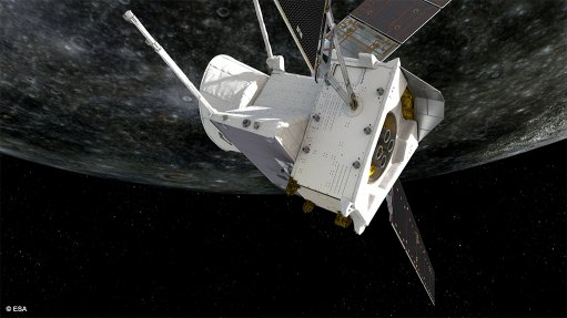 An artist's impression of BepiColombo during its first Mercury flyby