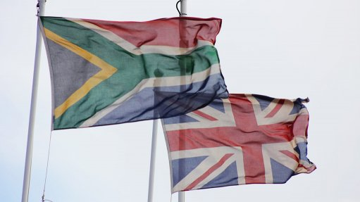An image of the British and South African flags