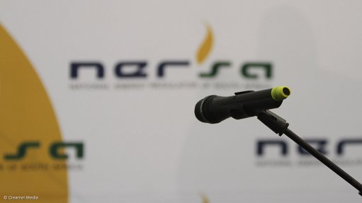A photo of a mic at a Nersa hearing