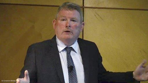 Creamer Media screenshot of Paul Dune taken during 2021 results presentation in September