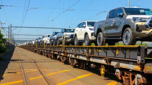 Image of vehicles waiting to be exported at the Durban harbour