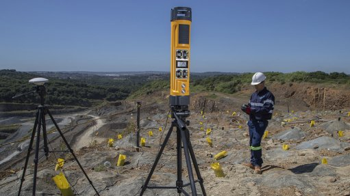 An image of the Differential Global Positioning System on a mining blast site
