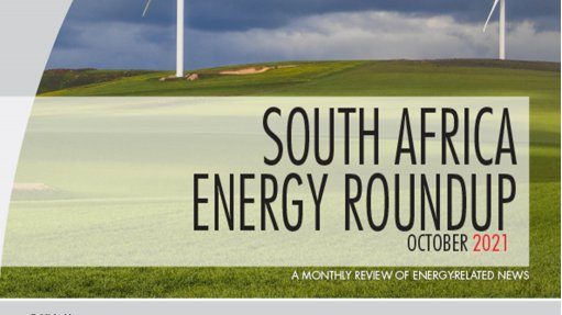 Cover image of Creamer Media's Energy Roundup for October 2021