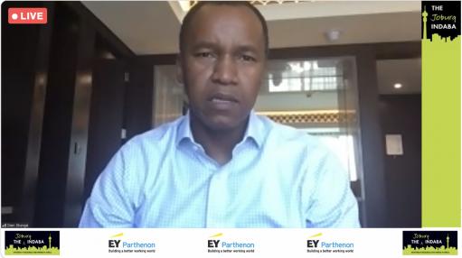 Creamer Media screenshot of PwC Africa CEO Dion Shango at Joburg Indaba 2021