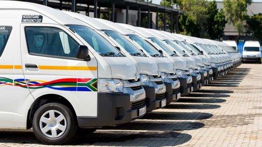 Image of a minibus fleet