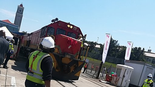 A photo of the newly reopened Cookhouse-Blaney branch line in the Eastern Cape