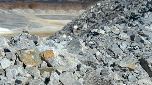 A photo of a lithium mining operation