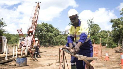Image of drilling at Hummingbird Resources' Yanfolila project