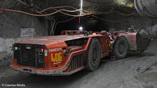 An image of an underground LHD