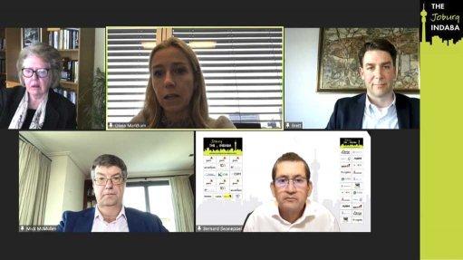 Creamer Media screenshot of panel discussion at Joburg Indaba in October 2021