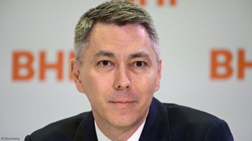 An image of BHP CEO Mike Henry