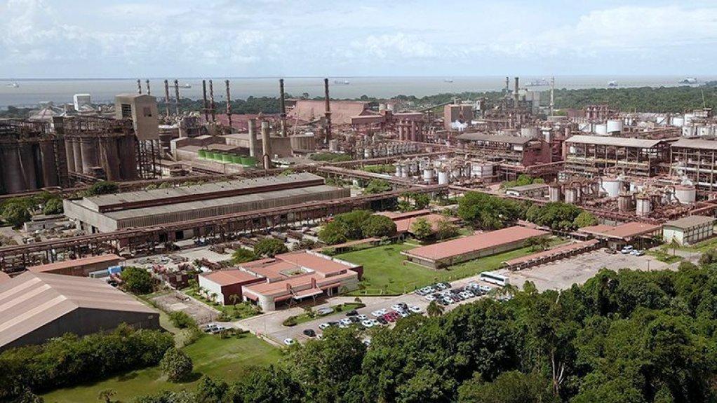 An image of the Alunorte alumina refinery