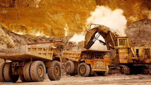 Image shows mining operations at the Lihir mine, in PNG