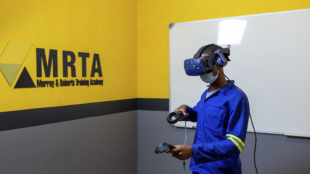 Virtual reality (VR) training modules include the use of VR simulators