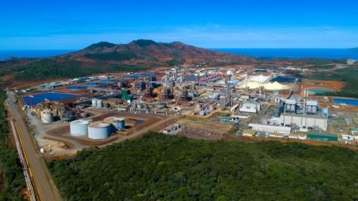 An image of Prony's New Caledonian nickel operations
