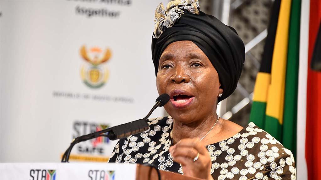 Minister of Cooperative Governance and Traditional Affairs Dr Nkosazana Dlamini Zuma