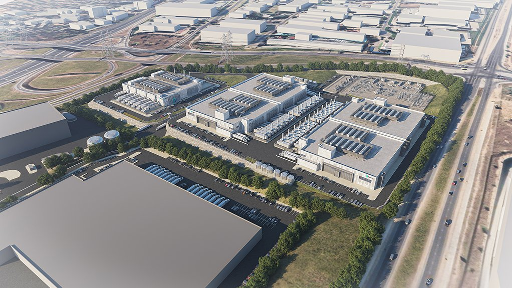 An artist's impression of the Vantage data centre to be built at Waterfall City