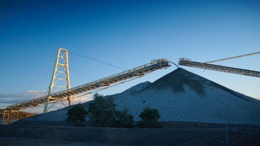Image of stockpile at the Cadia gold project, in Australia