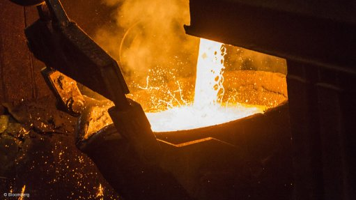 An image of molten copper
