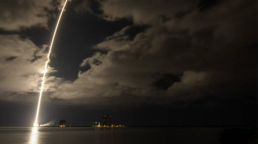 A photo of the launch of Lucy on an Atlas V rocket from Cape Canaveral