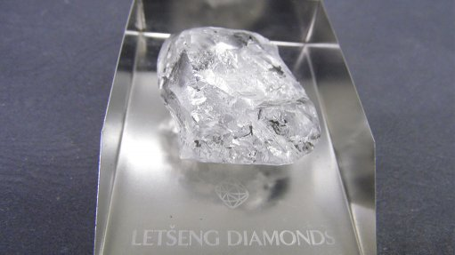 An image showing the high-quality 245 ct Type II white diamond from the Letšeng mine, in Lesotho