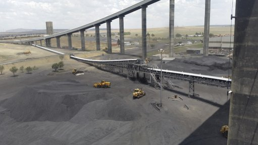An image of the coalyard at the Majuba power station