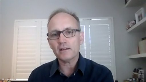 Creamer Media screenshot of Paul Milller during October 2021 Zoom interview.