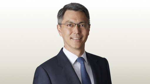Image shows BHP CEO Mike Henry