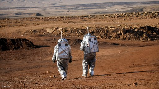 MARS SIMULATION: Earlier this month, the Austrian Space Forum set up a simulated Martian base together with the Israel Space Agency at Makhtesh Ramon, a 500-m deep, 40-km wide crater, in Israel's Negev desert. During a three-week mission, six astronauts from Austria, Germany, the Netherlands, Israel, Portugal and Spain will remain in complete isolation in a unique structure meant to simulate a space station. The astronauts will undertake a variety of experiments that have been selected for the project, in which more than 200 scientists from 25 countries are involved. Photograph: Amir Cohen for Reuters