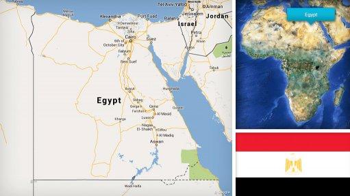 Image of Egypt map/flag