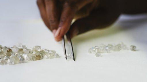 A photo of rough diamonds