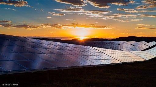 Photo of a solar farm