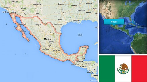 Image of Mexico map/flag