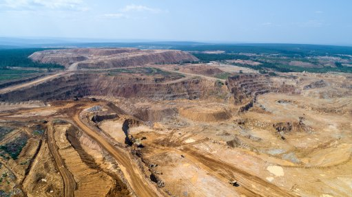 Aerial image of the Kuranakh mine in Russia