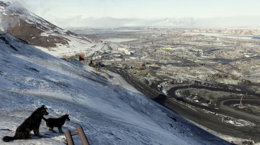 An image of Russia's Arctic city of Norilsk